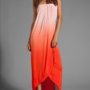 Young Fabulous & Broke Strapless Hot Pink Maxi S